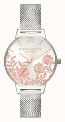 Olivia Burton | des femmes | détail de dentelle | bracelet en maille d'acier inoxydable | OB16MV90