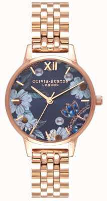 Olivia Burton   les femmes   fleurs ornées de bijoux   bracelet en or rose   OB16BF17