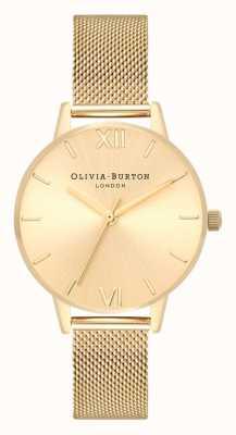Olivia Burton | les femmes | soleil cadran midi | bracelet en maille d'or | OB16MD85