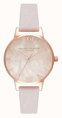 Olivia Burton | femmes | semi précieux | bracelet en cuir fleur | OB16SP02
