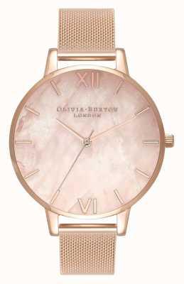 Olivia Burton   les femmes   semi précieux   bracelet en maille d'or rose   OB16SP01