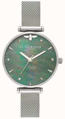 Olivia Burton | les femmes | reine des abeilles | perle | bracelet en maille d'acier | OB16AM151