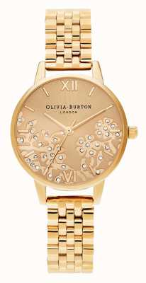 Olivia Burton | les femmes | dentelle bejeweled | bracelet de ton or | OB16MV105