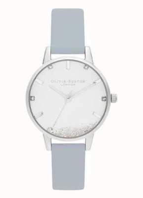 Olivia Burton   les femmes   la montre qui souhaite   bracelet vegan bleu craie   OB16SG07