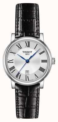 Tissot | Carson Classic | bracelet en cuir noir | cadran argenté | T1222101603300