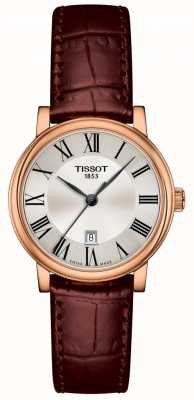 Tissot | carson premium lady | bracelet en cuir marron | T1222103603300