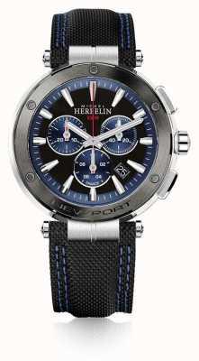 Michel Herbelin | hommes | newport | chronographe bleu et noir | caoutchouc | 37688/AG65