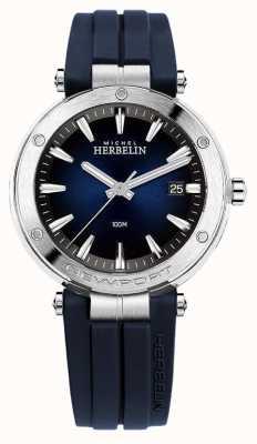Michel Herbelin | hommes | newport | cadran bleu | caoutchouc | 12288/15CB