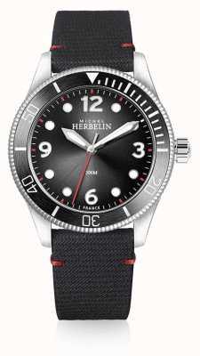 Michel Herbelin | hommes | trophée | cadran noir | bracelet noir | 12260/AN14