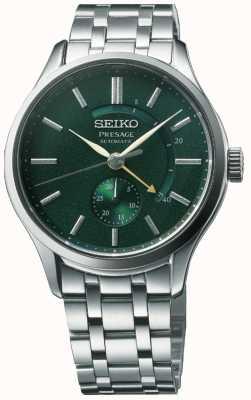 Seiko Présage automatique 'cocktail time' cadran vert zen de jardin en acier inoxydable SSA397J1