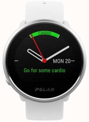 Polar Ignite | traqueur d'activité | fréquence cardiaque | silicone blanc | s 90072456