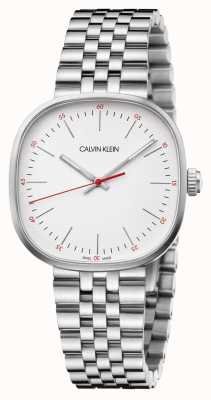 Calvin Klein | bracelet en acier inoxydable pour hommes | cadran carré argenté | K9Q12136