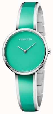 Calvin Klein | les femmes séduisent | bracelet de résine vert acier inoxydable | K4E2N11L