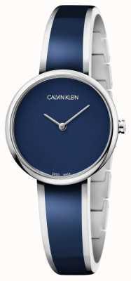 Calvin Klein | les femmes séduisent | bracelet en acier inoxydable résine bleue | K4E2N11N