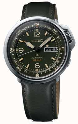 Seiko | prospex | hommes | extérieur | cuir vert | SRPD33K1