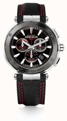 Michel Herbelin | hommes | newport | chronographe rouge et noir | nylon | 37688/AG44