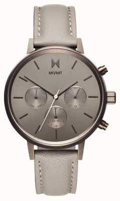 MVMT Nova lyra | bracelet en cuir gris | cadran gris D-FC01-TITA