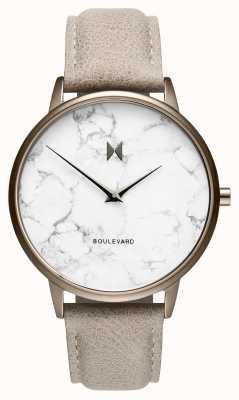 MVMT Boulevard croissant de marbre | bracelet en cuir de pierre | marbre D-MB01-TIMA