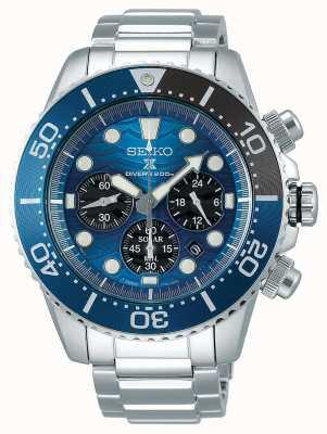 Seiko | plongeur prospex | sauver l'océan | cadran chronographe bleu | SSC741P1