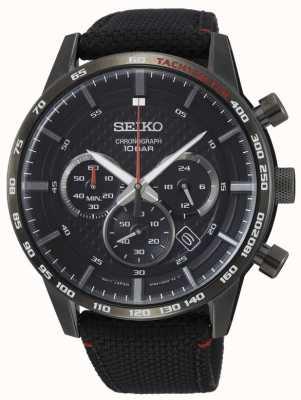 Seiko | hommes | sports | chronographe | noir | SSB359P1