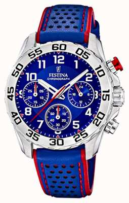 Festina | bracelet en cuir bleu pour homme / junior | cadran bleu | F20458/2