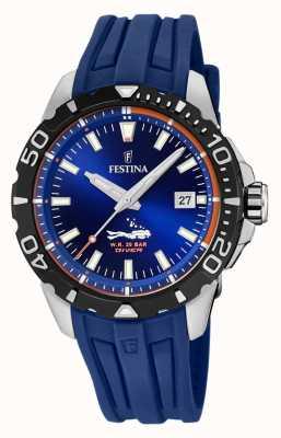 Festina | hommes divers | bracelet en caoutchouc bleu | cadran bleu | F20462/1