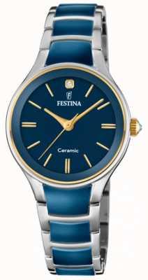 Festina | céramique femme | bracelet argent / bleu | cadran bleu | F20474/3