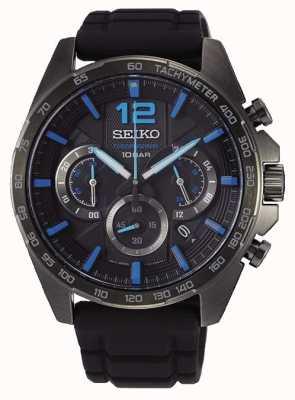 Seiko | sports néo | hommes | chronographe noir | bracelet noir | SSB353P1