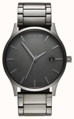 MVMT Lien monochrome classique | bracelet plaqué pvd | cadran gris D-MM01-GR