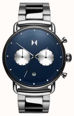 MVMT Blacktop astro bleu | acier inoxydable | cadran bleu D-BT01-BLUS