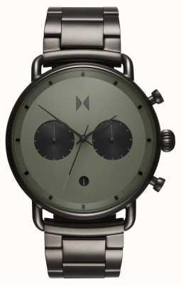 MVMT Blacktop rallye vert gunmetal | bracelet pvd | cadran vert D-BT01-OLGU
