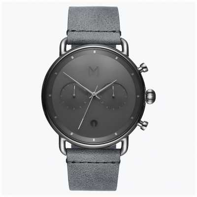 MVMT Blacktop silver mist | bracelet en cuir gris | cadran gris D-BT01-SGR