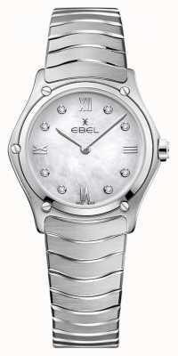 EBEL Classique de sport pour femmes | cadran en nacre | serti de diamants | 1216417A