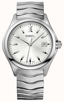 EBEL | mens wave | bracelet en acier inoxydable | cadran argenté | 1216200