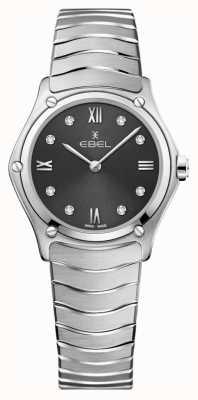 EBEL Sport classique pour femmes | cadran gris | ensemble de diamant | inoxydable 1216416A