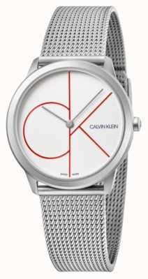 Calvin Klein | minimal | bracelet en maille d'acier inoxydable | cadran argenté | K3M52152