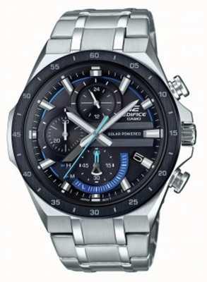 Casio | édifice | chronographe solaire | cadran noir et bleu | EQS-920DB-1BVUEF