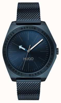HUGO #act | maille ip bleu | cadran bleu 1530109