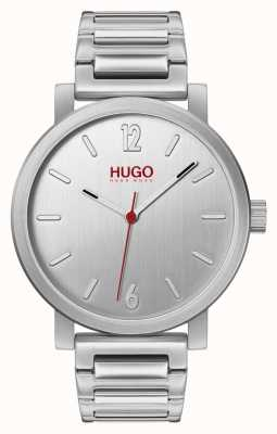 HUGO #rase | bracelet en acier inoxydable | cadran argenté 1530117