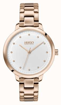 HUGO #achieve | bracelet ip or rose | cadran blanc 1540037