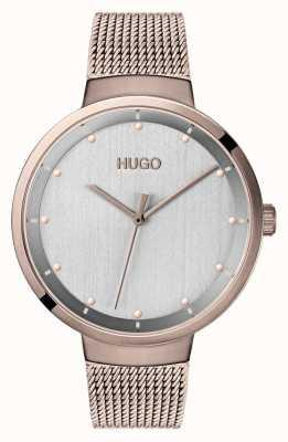 HUGO #go | maille ip or rose | cadran gris 1540004