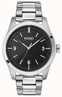 HUGO #create | bracelet en acier inoxydable | cadran noir 1530016