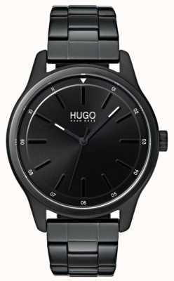 HUGO #dare | bracelet ip noir | cadran noir 1530040