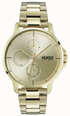 HUGO #focus | bracelet ip or | cadran en or 1530026