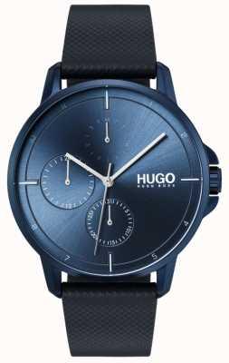 HUGO #focus | bracelet en cuir bleu | cadran bleu 1530033
