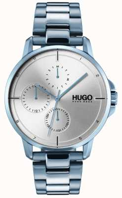 HUGO #focus | bracelet ip bleu | cadran argenté 1530051