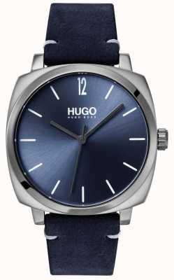 HUGO #own | bracelet en cuir bleu | cadran bleu 1530069