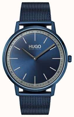 HUGO #exist | maille ip bleu | cadran bleu 1520011