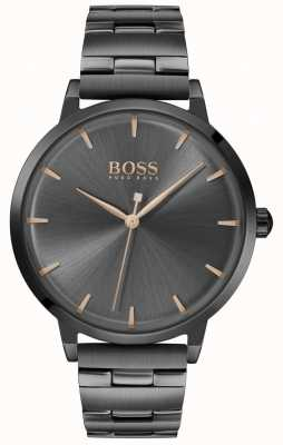 Boss | marina des femmes | bracelet plaqué pvd noir | cadran noir | 1502503