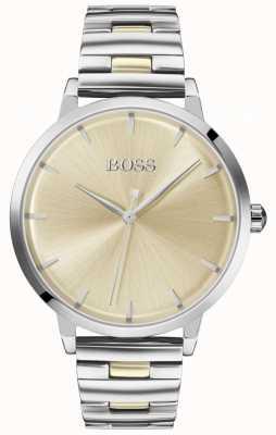 BOSS | port de plaisance pour femmes | bracelet en acier inoxydable | cadran en or | 1502500